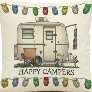 Other - Pillow Cover- NEW- Happy Camper